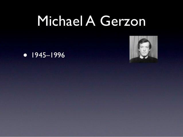 Michael A Gerzon• 1945–1996