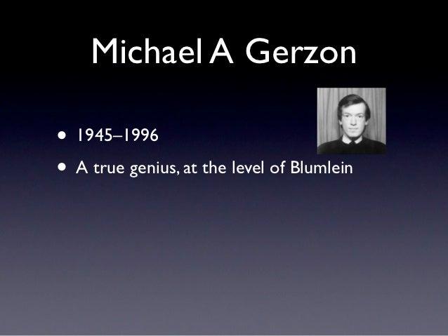 Michael A Gerzon• 1945–1996• A true genius, at the level of Blumlein