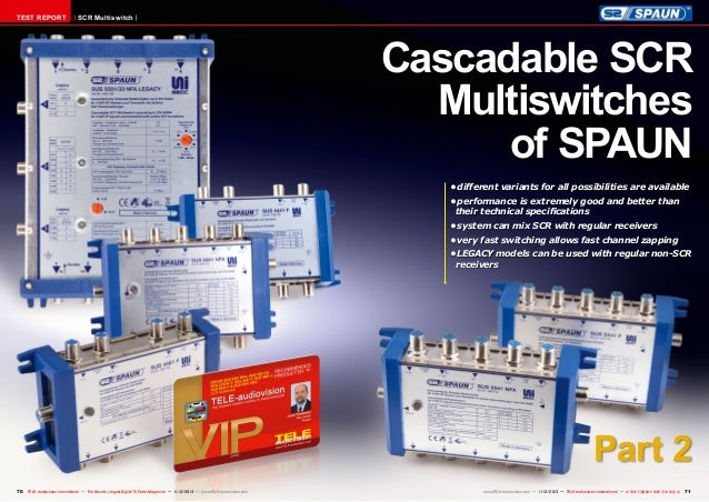 TEST REPORT  SCR Multiswitch  Cascadable SCR Multiswitches of SPAUN •different variants for all possibilities are availab...