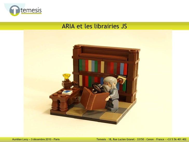 ARIA et les librairies JS