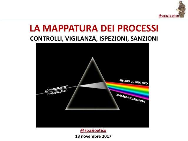 @spazioetico LA MAPPATURA DEI PROCESSI CONTROLLI, VIGILANZA, ISPEZIONI, SANZIONI @spazioetico 13 novembre 2017
