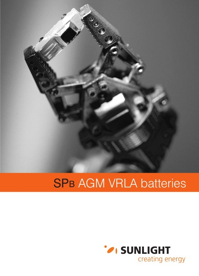 SPB AGM VRLA batteries