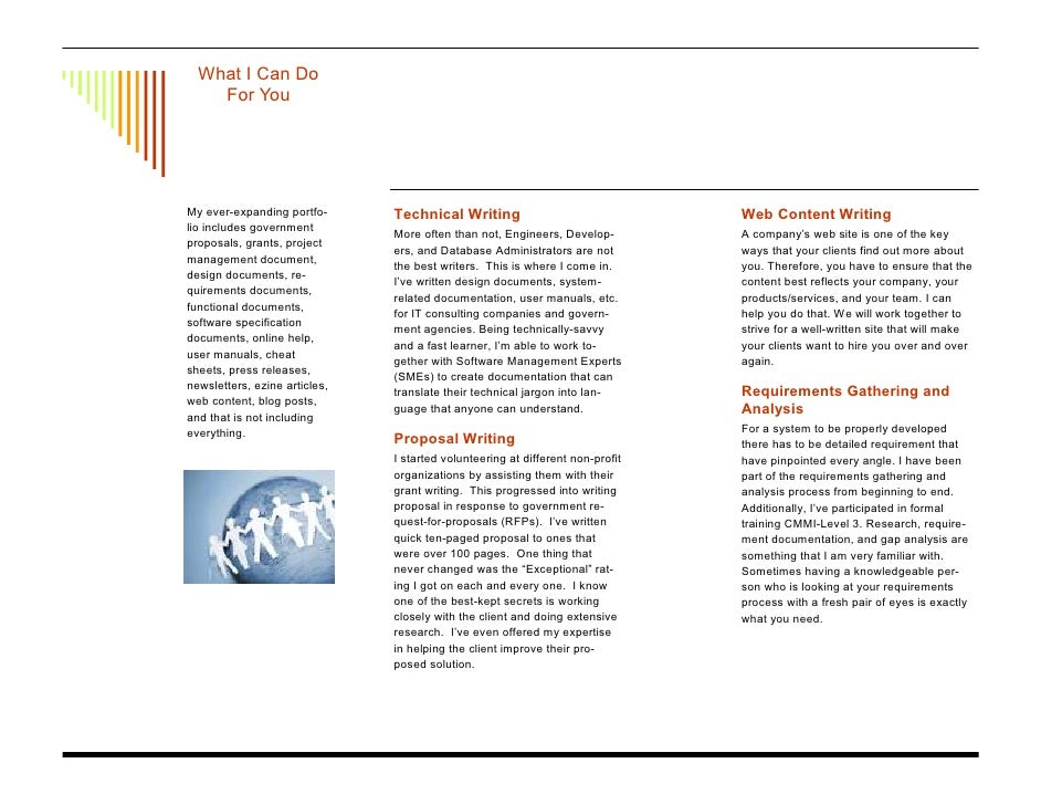 Technical Writing And Proposal Writing Brochure