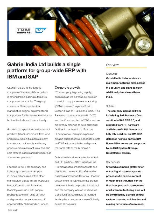 Gabriel India Ltd builds a single                                                        Overviewplatform for group-wide E...