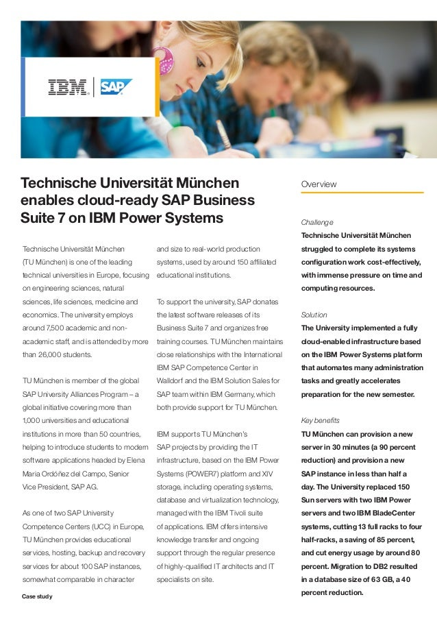 Technische Universität München                                                            Overviewenables cloud-ready SAP ...