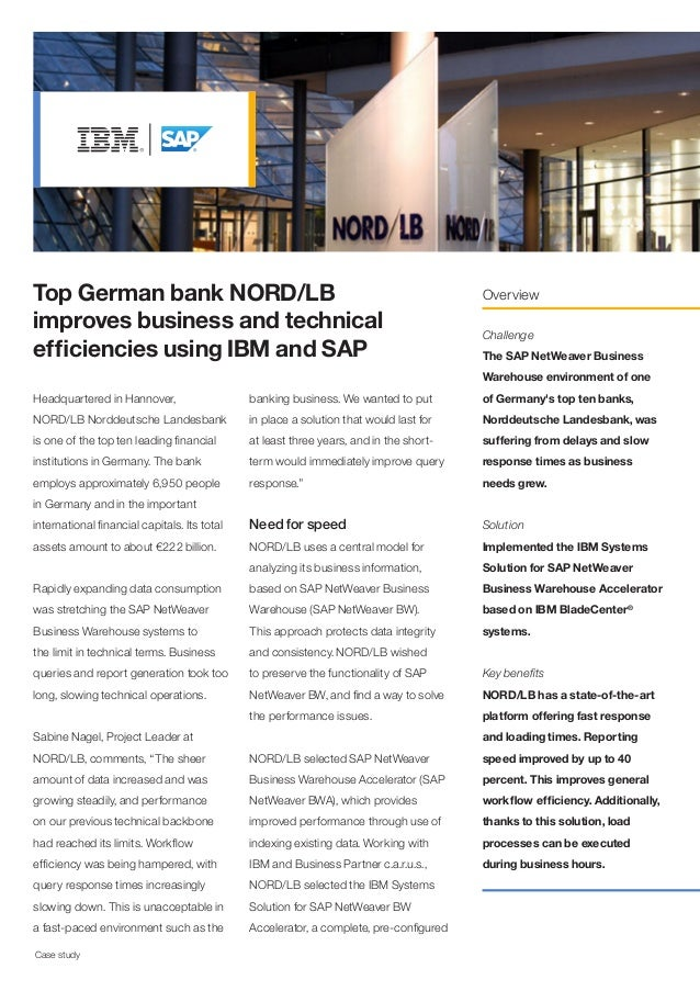Top German bank NORD/LB                                                                 Overviewimproves business and tech...