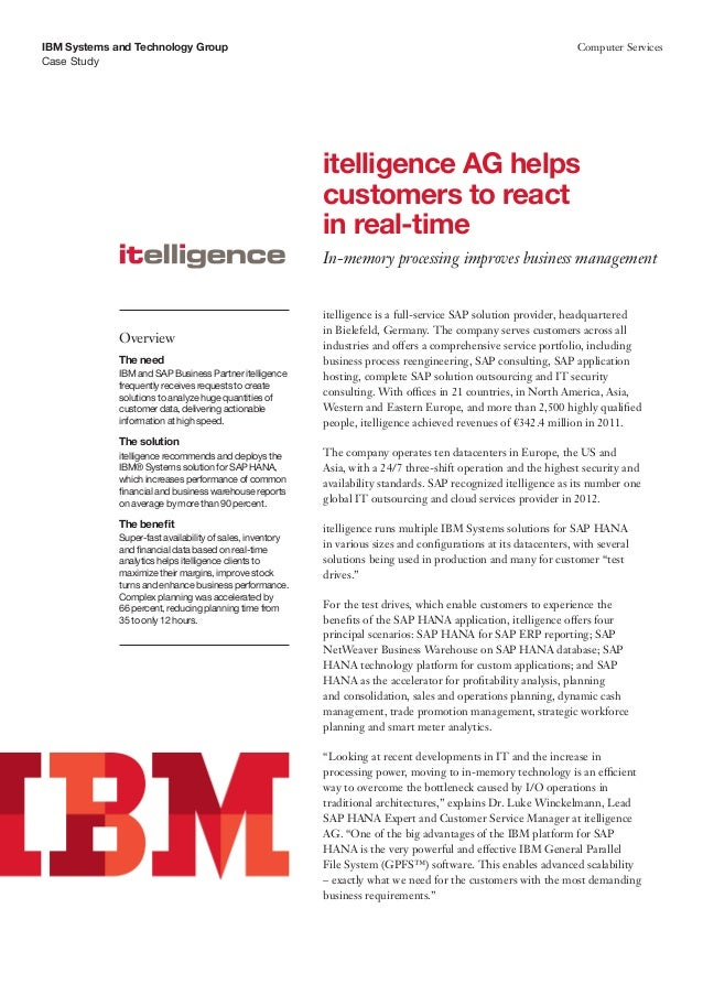 itelligence AG helps customers to react in real-time