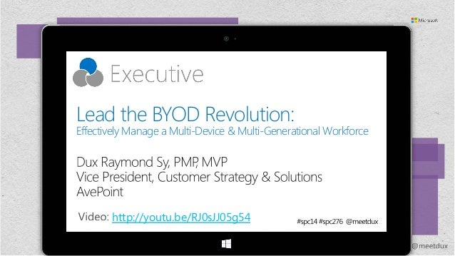 Lead the BYOD Revolution: