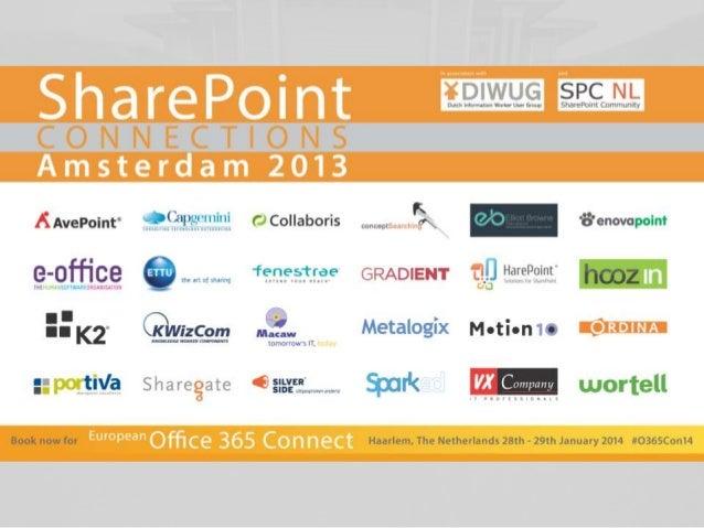 SharePoint 2013 Hunting Performance Issues Margriet Bruggeman Nikander Bruggeman