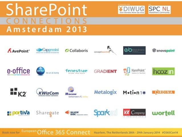 SharePoint Connections 2013 Amsterdam – René Modery – Office 365 MVP – 1stQuad  1