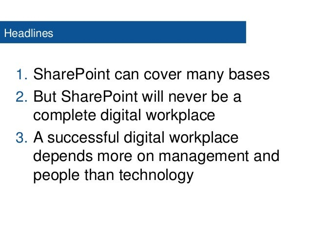 Spca2014 Building A Digital Workplace On Share Point Sam