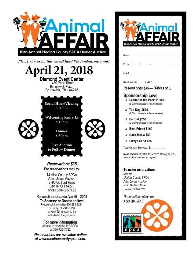 Medina County SPCA Animal Tales Newsletter, Spring 2018