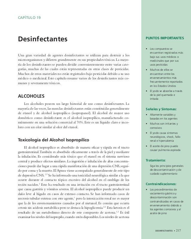 DESINFECTANTES • 217 CAPÍTULO 19 Desinfectantes Una gran variedad de agentes desinfectantes se utilizan para destruir a lo...