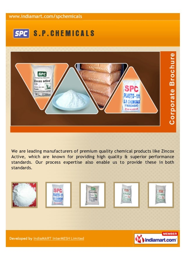 We are leading manufacturers of premium quality chemical products like ZincoxActive, which are known for providing high qu...