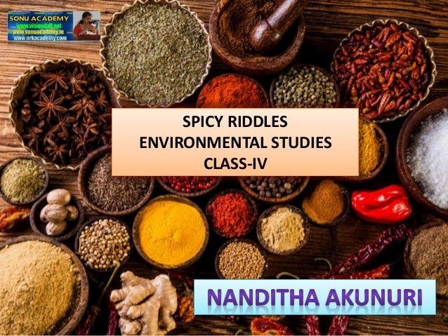 SPICY RIDDLES ENVIRONMENTAL STUDIES CLASS-IV