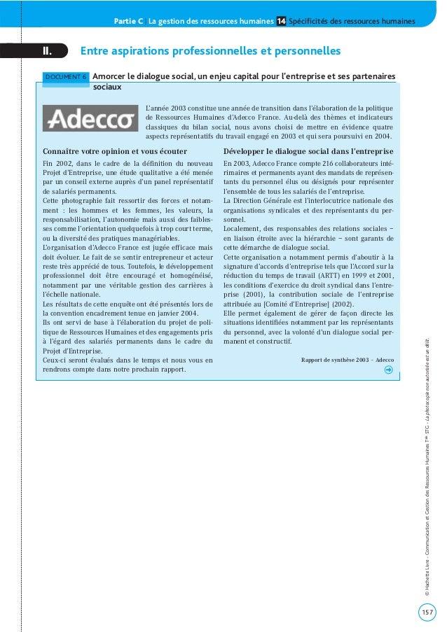 Partie C | La gestion des ressources humaines Spécificités des ressources humaines14 157 ©HachetteLivre-CommunicationetGes...