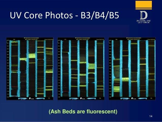 UV Core Photos - B3/B4/B5 14 (Ash Beds are fluorescent)