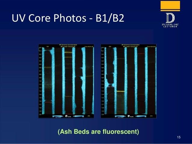 UV Core Photos - B1/B2 15 (Ash Beds are fluorescent)