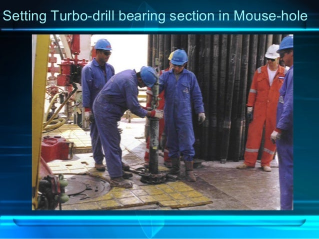 Setting Turbo-drill bearing section in Mouse-hole