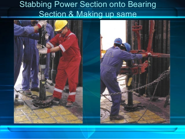 Stabbing Power Section onto Bearing Section & Making up same