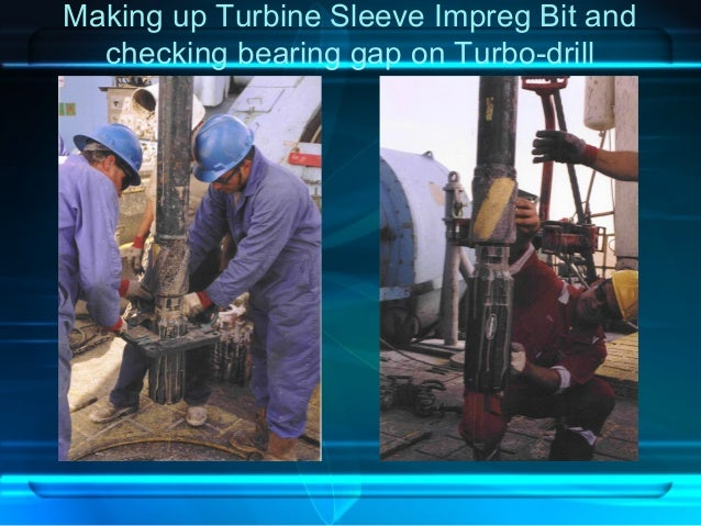 Making up Turbine Sleeve Impreg Bit and checking bearing gap on Turbo-drill