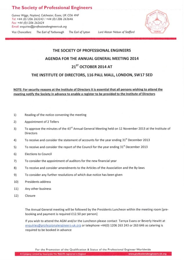 Spe agm formal notice agenda nomination form 3 pronofoot35fo Images