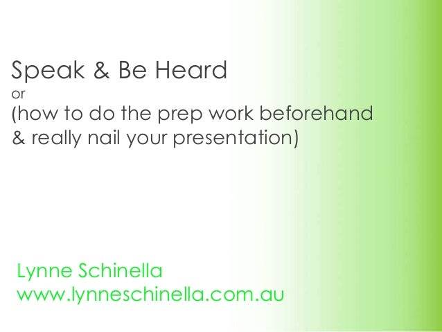 how to speak in presentation
