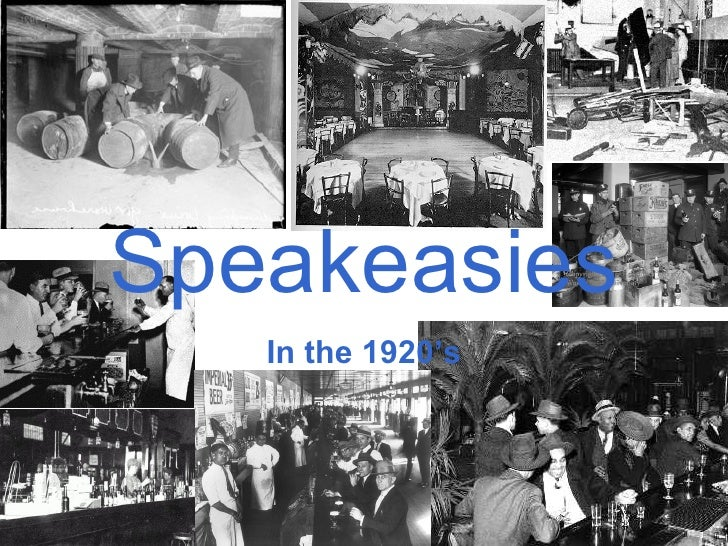 Speakeasies In the 1920's
