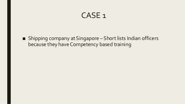 Competency Based Training by Capt K Iyer