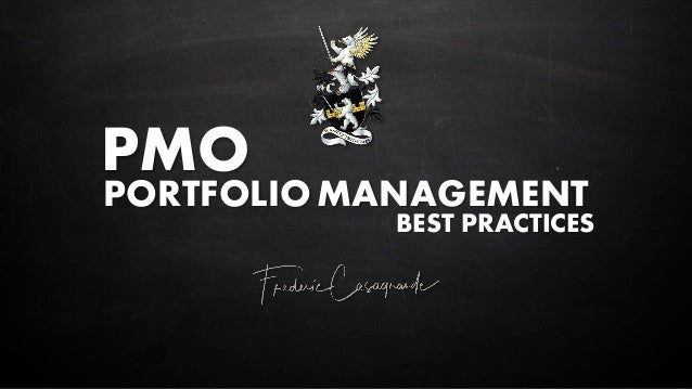 PMO PORTFOLIOMANAGEMENT BEST PRACTICES