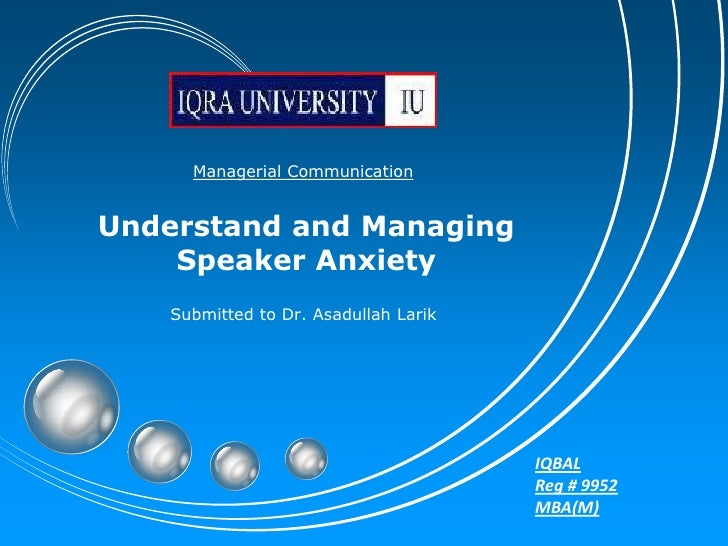 anxiety and iqbal Investigation into anxiety level of mphil students of allama iqbal open university at entry level dr muhammad javed iqbal.