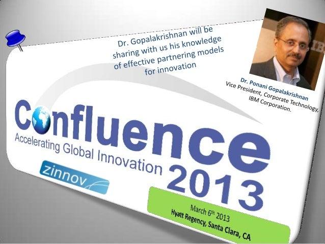 Confluence 2013 Speaker Update: Dr. Ponani Gopalakrishnan