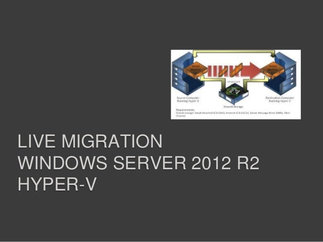 LIVE MIGRATION WINDOWS SERVER 2012 R2 HYPER-V