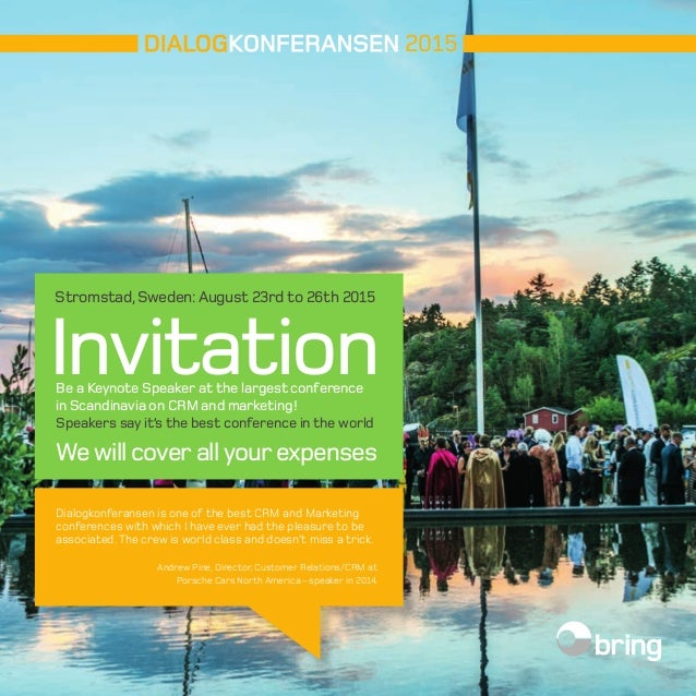 Speaker invitation dk15 2015 stromstad sweden august 23rd to 26th 2015 invitation be a keynote speaker at 2015 2015 conference stopboris Image collections