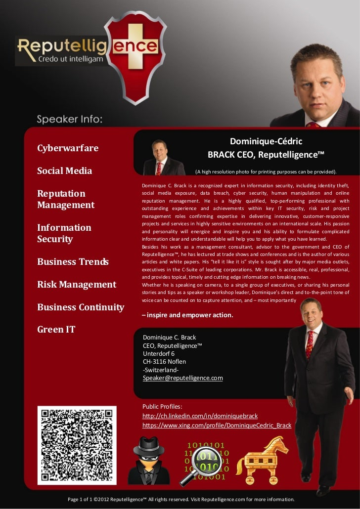 Dominique-CédricCyberwarfare                                                                    BRACK CEO, Reputelligence™...