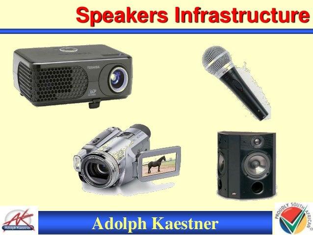 Adolph Kaestner Speakers Infrastructure