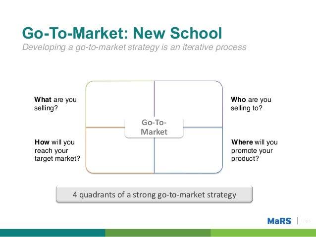 Go To Market Strategy Entrepreneurship 101 20132014