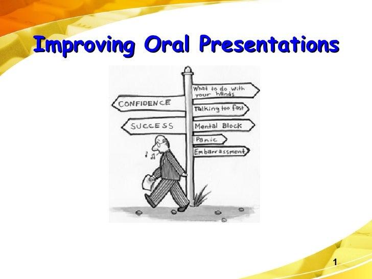 Improving Oral Presentations