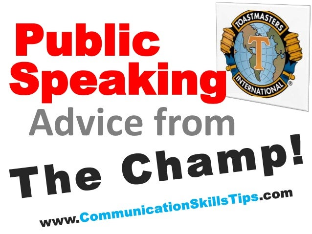 PublicSpeaking Advice from