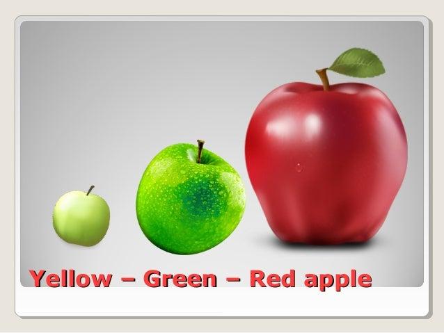 Yellow – Green – Red appleYellow – Green – Red apple