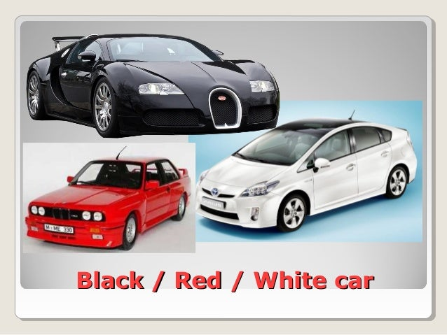 Black / Red / White carBlack / Red / White car