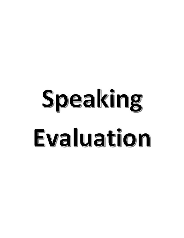 Speaking evaluation