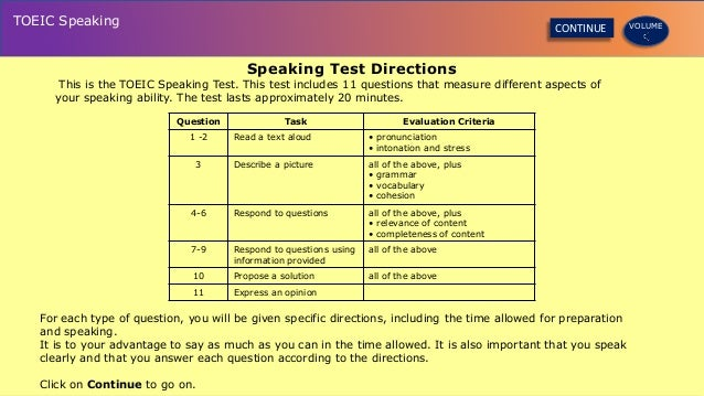 toeic writing and speaking tests
