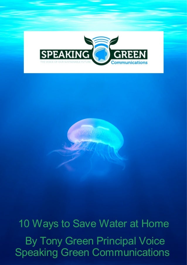 Speaking Green Communications 10 Ways To Save Water At Home