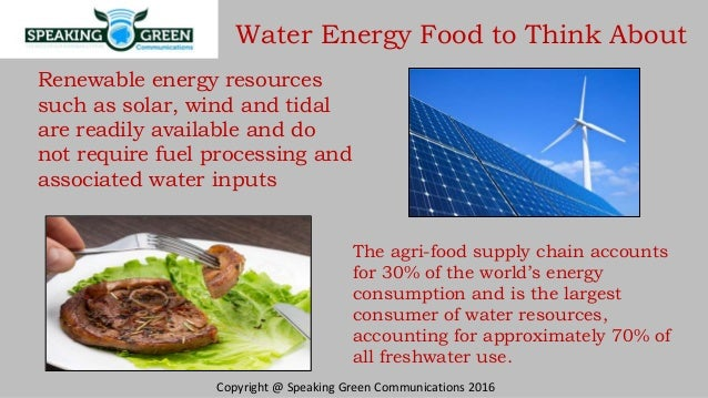 water energy food nexus pdf