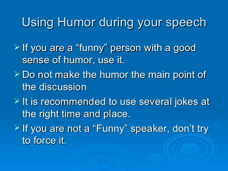 how to speak in front of audience
