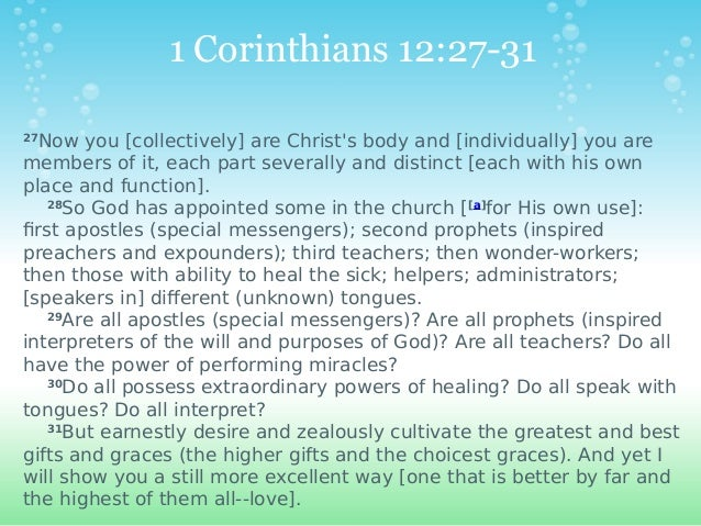 This Christmas Love 1 Corinthians 12 31: Speaking In Tongues