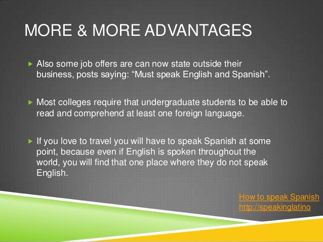 why learning spanish is so important