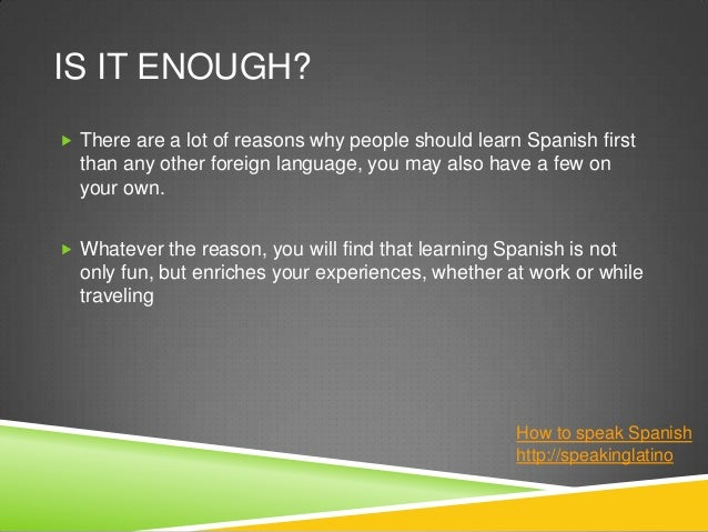 Reasons For Learning Spanish - Business Insider