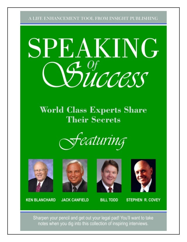 SPEAKING OF SUCCESS           ABOUT THE AUTHORBILL TODD is a recognized expert insales, marketing, and individualmotivatio...